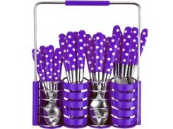 Столовий набор 24 предмета Peterhof PH-22108 B violet