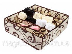 Коробочка для белья на 24 секции Молочный Шоколад Код:103-1022520
