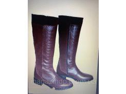 Женские сапоги кожаные натуральные 1068 АР Код:591234175