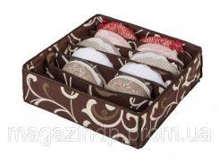 Коробочка для белья на 7 секций Горячий Шоколад Код:103-1022509