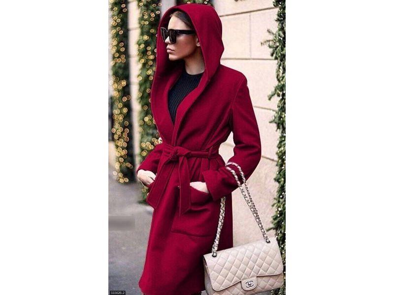 d2382bd6443 Пальто 333626-2 марсала Весна 2018 Украина купить недорого за 718 ...