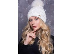 Женская шапка с помпоном11 расцветок