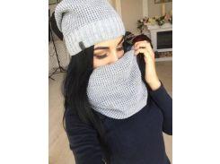 Шапка+шарф-хомут 2390