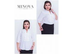 Блуза №409-белый