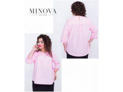 Блуза №406-розовый