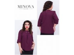 Блуза №408-марсала