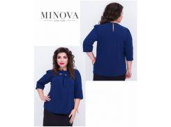 Блуза №408-темно-синий