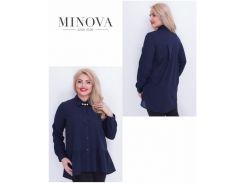 Блуза №17-42-темно-синий