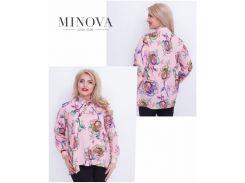 Блуза №17-43-розовый