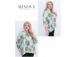 Блуза №17-43-салатовый