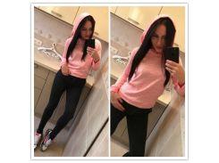 Кофта с капюшоном (розовый ) kll-5622334