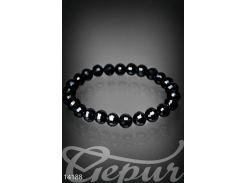 Изысканный граненный браслет (черный)