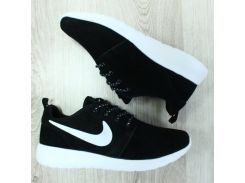 Кроссовки замшевые Nike Roshe Run черные