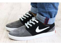 Кроссовки - мокасины  замшевые Nike серые