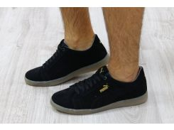 Кроссовки мужские замшевые черные Puma