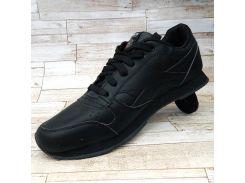 Кроссовки черные кожаные Рибок мужские