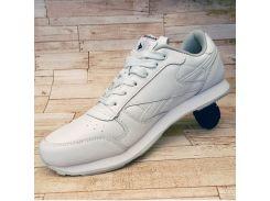 Мужские белые кроссовки Рибок гладкая кожа