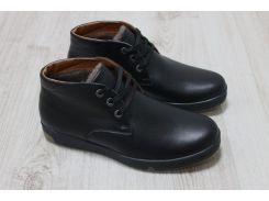 Зимние ботинки черная кожа 42, 43р