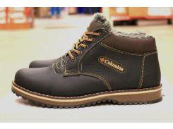 Зимние кожаные ботинки Columbia коричневые 40 размер