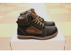 Зимние кожаные ботинки Columbia с замком 40р.