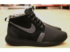 Зимние кожаные кроссовки Nike Roshe Run 40р.