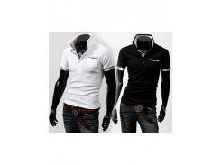 Рубашка поло Stereoman (Белый/Черный)