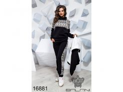 Теплый спортивный костюм - 16881 (Черный)