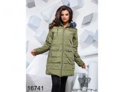 Теплая зимняя куртка - 16741 ( оливка)