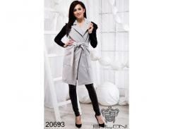 Элегантная жилетка с карманами - 20693 (Серый)