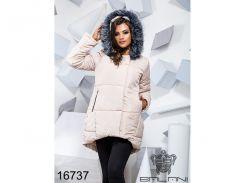 Теплая зимняя куртка - 16737 (Светло-бежевый)