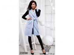 Элегантная жилетка с карманами - 20690 (Голубой)