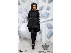 Теплая зимняя куртка - 16736 (Черный)
