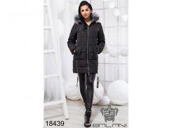 Стильная теплая куртка - 18439 (Черный)