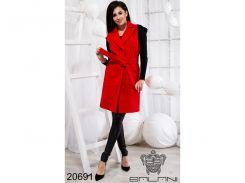Элегантная жилетка с карманами - 20691 (Красный)