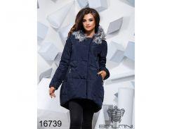 Теплая зимняя куртка - 16739 (темно-синий)