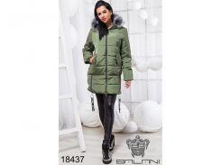 Стильная теплая куртка - 18437 (хакки)