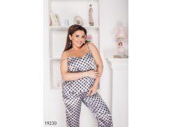 Женская пижама 19230 серый
