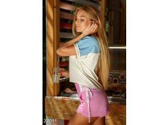 Спортивные летние шорты (розовый)