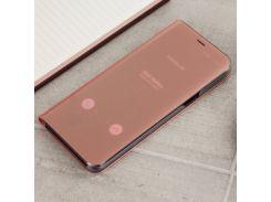 Чехол Clear View Standing Cover (Зеркальный) для Samsung J330 ( J3-2017) Розовый