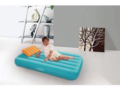 Детский надувной матрас с подушкой Intex 66801 - 157см×88 см×18 см  Голубой
