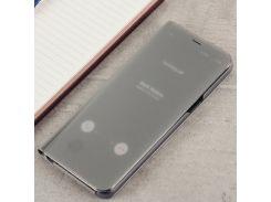 Чехол Clear View Standing Cover (Зеркальный) для Samsung A720 (A7-2017) Серебро
