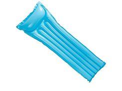 """Надувной пляжный матрас """"ОКЕАН ЦВЕТОВ"""" Intex 59703 (183х69см) Голубой"""