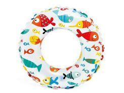 Надувной круг Intex 59230 от 3х до 6 (51cm) Рыбки