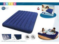 Двуспальный надувной матрас Intex 68758 (137Х191Х 22СМ) DOWNY ROYAL