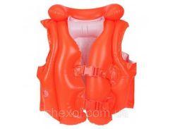 Детский жилет Intex 58671. Цвет оранжевый