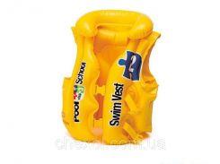 Детский жилет Intex 58660. Цвет желтый