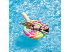 """Надувной пляжный матрас-плот """"Леденец"""" Intex 58753 (208х135см) LOLLIPOP FLOAT"""