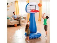 Надувное баскетбольное кольцо Intex 57502 + Мячи (2 шт)