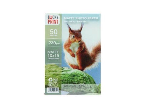 Матовая фотобумага Lucky Print (10x15, 230г/м2), 50 листов Киев