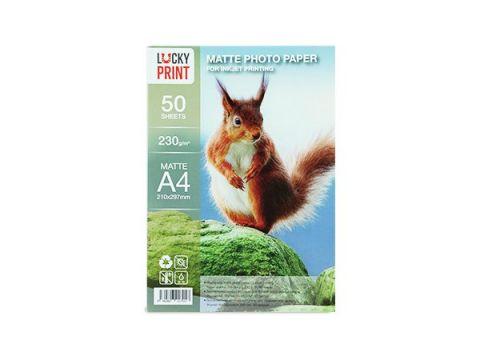 Матовая фотобумага Lucky Print (А4,230 г/м2), 50 листов Киев
